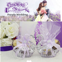 Wholesale Exclusive Swan Shape Candy Boxes Favors Swan favour boxes Wedding Party Favors
