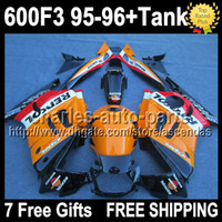 7gifts+ Tank For HONDA CBR600F3 95- 96 Orange red black F3 CBR...