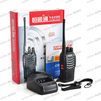 Wholesale LLFA2276 Hot Sales H777 Handheld Walkie Talkie UHF Single Band W CH Portable Black Two Way Radio H777 with earpiece