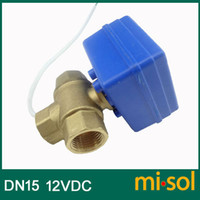 Wholesale 3 way motorized ball valve DN15 reduce port electric ball valve motorized valve