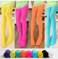 kids pantyhose - Childrens socks For girls Socks Candy colors Velvet Children s tights Dance socks pantyhose for kids