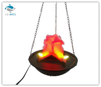 Wholesale Flame Lamp Halloween Hanging Lamp KTV Decoration Lamps Pendant Light Electronic Fire Plastic Party Decoration Lamp Black Fire Pit On Sale