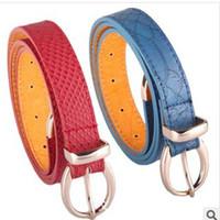 Women' s leather belt Korean fashion all- match belt leat...