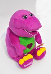 Wholesale quot cm Barney Child s Best Friend Plush toys Singing animal Toy Sttuffed Dolls