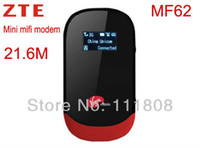 Wholesale New Unlocked Wireless Wifi G Modem ZTE MF62 Mifi Wifi Mbps G Router Mbps Users Support MAH Battery