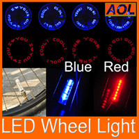Bicycle wheel light bike bicycle - Novelty Car Bike LED Flash Tyre Light patterns leds Bike Bicycle car Motorcycle tire Spoke Wheel Valve LED Flash alarm Light Neon