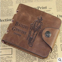 Wholesale Retail Cowboy Men s Leather Wallet Pockets Card Clutch Cente Bifold Purse