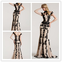Wholesale New sexy High Neck Applique Tulle Chiffon Mermaid Evening dress Prom Dress Party Dress S718