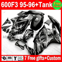 7gifts+ Tank NEW Black For HONDA CBR600F3 95- 96 CBR 600 600F3...