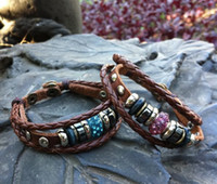 Wholesale fashion Handmade Shambhala leather multi wrap bracelets Jewelry wristbands for man and women Y0045
