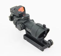 Rifle Scopes acog doctor sight - Tactical TA31 ACOG RMR x32 Riflescope With Doctor Auto Red Dot sight Black