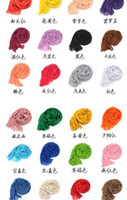 Wholesale 100pcs new Fold the scarf New winter selling pure see colour cotton wrinkle scarves long silk scarves size cm Cotton amp Jute