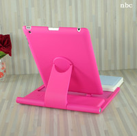 Wholesale 3 colors Degree Rotation Wireless Bluetooth keyboard case For iPad with Hardshell Case
