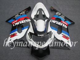 Wholesale Body Kit FIT For Suzuki white blue red black GSX R GSXR GSXR600 Aftermarket ABS Fairing