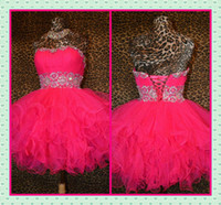 Real Photos Tulle Sweetheart 2013 best Selling Short Tulle Ball Gown Homecoming Dresses Corset and Tulle Fuchsia Shiny Beaded Fluffy Cheap Girls' Prom Party Dresses Sale