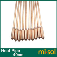 Cheap 10pcs lot of copper heat pipe (40cm), for solar water heater, solar hot water heating
