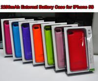Freeshipping iPhone5S 5G 2200mAh Li- polymer Battery Case wit...