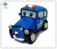 Cartoon No No Transparent Resin Patrol Wagon Shape Night Light Blue Led Lamp for Children Room Cute Novelty Lights Plug Operated Selling from Factory