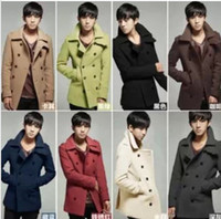 Wholesale 2013 New Men Coat Cultivate One s Morality Woollen Overcoat Coat Size M XXL t0729