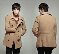 Men Waist_Length Wool 2013 New Men Trench Coat Cultivate One's Morality Woollen Overcoat Coat Free Shipping t0729