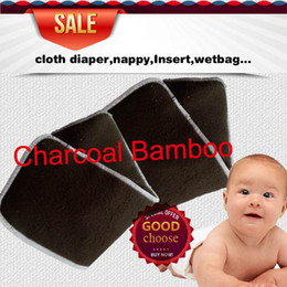 Wholesale US layers Reuseable Charcoal bamboo Insert Reusable Baby Cloth Diaper Pads Nappy Inserts