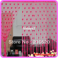 Wholesale Heart Line String Curtain Tassel Drape For Wall Vestibule Door Window Room Divider cmX200cm colors