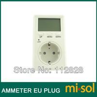 watt meter - EU Plug Ammeter Energy Power Watt Voltage Volt Meter Monitor Analyzer