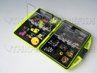 Wholesale 1SET Pack Fishing Tackle Box Utility Box Hooks Swivels Set Assorted Tackle Saltwater Tool Box Jig Hooks Fishing Accessories