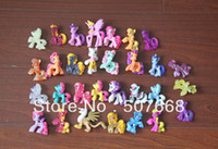 Stuffed PVC 2 -4Years Wholesale - Free shipping 20PCS LOT Hasbro My little pony Loose Action Figures toy My littlest Pony Figure doll