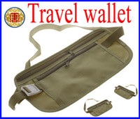 Wholesale New Travel Passport Security Money Ticket Holder organizer wallet waist bag packs Belt Bag wallet purse