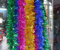 Wholesale 2 meters christmas tree decoration strip decoration garland Christmas ribbon Christmas decoration Mix color