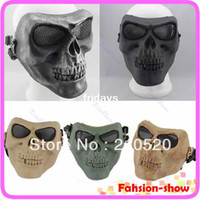 Wholesale Death Skull Bone Airsoft Full Face Protect Mask Paintball Game Hunting Biker Ski Guard Mask