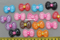 Jewelry Findings Multi pendants Set of 50pcs lovely Bow Rhinestone Cabochon 35mm Cell phone decor, hair accessory supply, embellishment, DIY project supply
