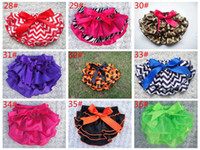 Wholesale 79 styles baby girls chevron ruffle bloomers children polka dot underwear kids Leopard zebra PP pants infant cute tutu short pant underpants