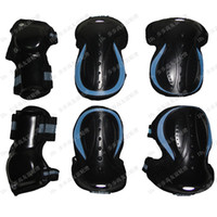Wholesale 120 metre tall mcro thickening jkp skating protective gear armfuls elbow kneepad six pieces set roller flanchard
