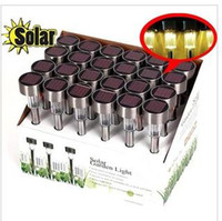 IP68 Garden  The new 10 PCS LOT stainless steel solar lamp, 2 v 40 ma solar panels LED solar lawn lamp, garden light, solar garden lamp