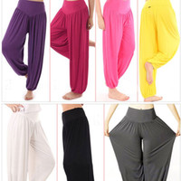 Women Lady Harem Yoga Cotton Comfy Long Pants Belly Dance Bo...