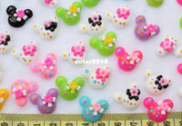 Wholesale set of Resin kawaii Mixed Mouse Polka Dot Deco cabochons Flatbacks mm