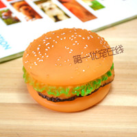 Wholesale Pet vocalization hamburger toy pet toy dog toys sound toys spherical toy dog toy