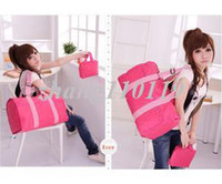 Wholesale Momen s Traveler Lightweight Collapsible Duffle Bag with A Small Bag Rose