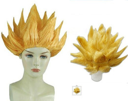 Wholesale Cosplay Costume Wig DRAGONBALL Z GOKU Japan Anime Wig Hair Gold yellow New