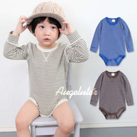 Unisex Spring / Autumn 95% Cotton+5% Spandex Boy And Girl Stripe Jumpsuits Infant Wear Baby One Piece Romper Fashion One Piece Clothing Long Sleeve Jumpsuit Rompers Kids Climb Clothes