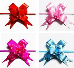 2017 arcs décorations mariage Cadeau de Noël d'emballage de rubans d'arc de traction de mariage Décoratifs anniversaire de la chambre de Valentine décoration d'or, cadeauPresent arcs décorations mariage ventes