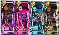 venda por atacado bonecos de plástico-Com caixa e acessório grátis frete Monster High dolls 4pcs/lot 2013 novos estilos vendedor quente meninas brinquedos de plástico