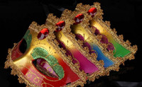 beautiful masquerade masks - Halloween mask masquerade mask beautiful painted Phnom Penh factory direct cheap