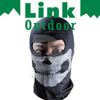 Wholesale Bike Motorcycle Ski Skiing Snowboard Neck Winter Warm Grey Skull Face Mask Sport Snow