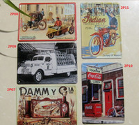 Wholesale HOT SALE Vintage Antique Metal Tin Sign Decor home bar set x10CM P