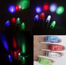 Wholesale 50PCS Colorful Finger Light Glow Toys LED Finger Laser Lights Ring Light Flash Light Ring