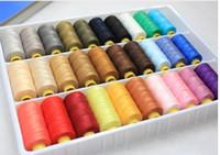achat en gros de jeans couture-30colors 20/3 haute résistance 100% couture épaisse jeans ligne ligne de linge de ligne polyester fil à coudre grand volume couleur fil à coudre sur le cône