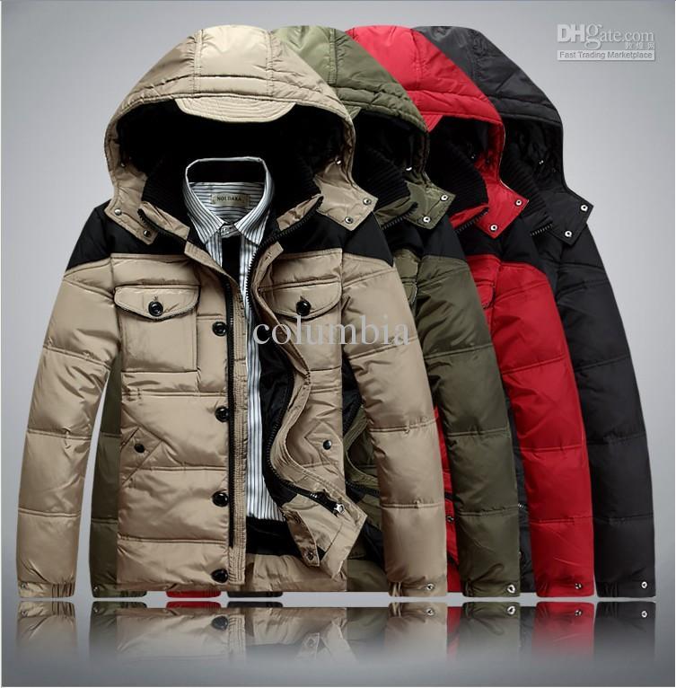 NEW HOT High Quality Men's Winter Warm Assorted Colors Coat Men's ...